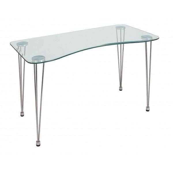 Scrivania in vetro mod rondo ecoufficio - Mesas escritorio de cristal ...