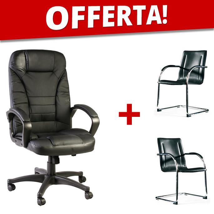 Sedie Ufficio In Offerta.Offerta Set Poltrone Da Ufficio Direzionali Emiro Ecoufficio