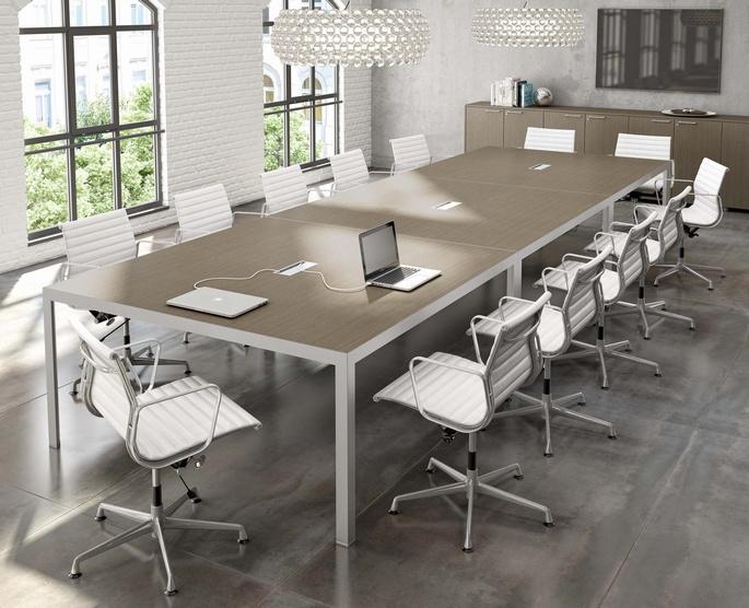 Tavolo Riunione Piano Vetro Executive : Tavolo riunione mod happy three ecoufficio