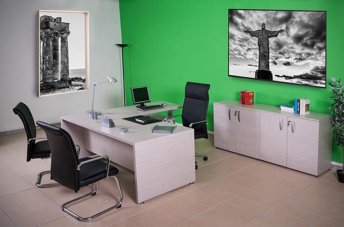 Ufficio direzionale mod quadra easy ecoufficio for Mobile basso ufficio