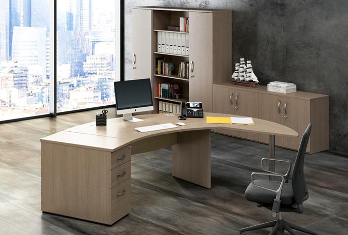 Ufficio direzionale mod plexi direzionale ecoufficio for Scrivanie operative ufficio