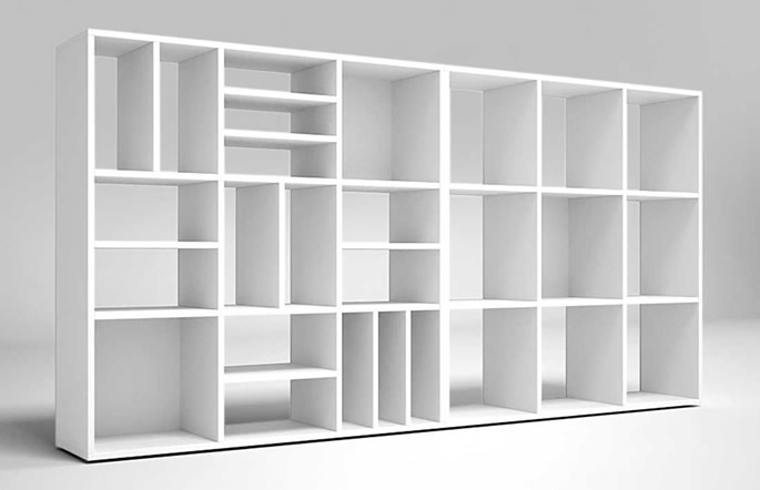 Libreria modulare mod rilton ecoufficio for Libreria modulare